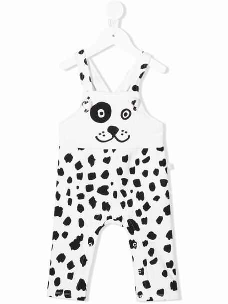 Stella McCartney Kids dog-print fleece jumpsuit - White