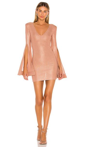 Michael Costello x REVOLVE Moseley Mini Dress in Mauve in metallic / rose