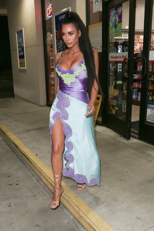 shoes lace up heels sandals sandal heels slit dress kim kardashian kardashians dress