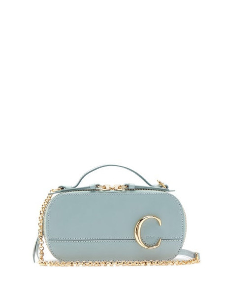 Chloé Chloé - The C Structured Leather Cross-body Bag - Womens - Blue