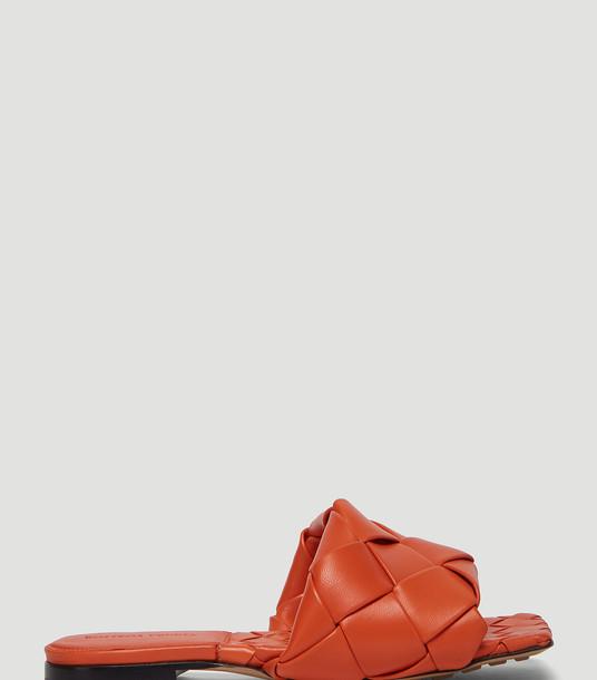 Bottega Veneta Sandals Women - Intreccio Sandals Orange 100% Leather. EU - 40