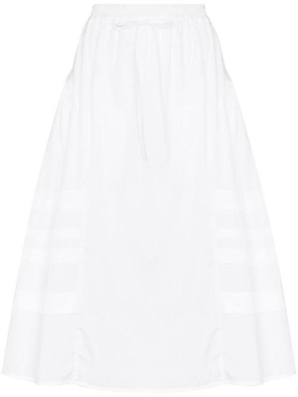 Cecilie Bahnsen Mandy panelled midi-skirt in white