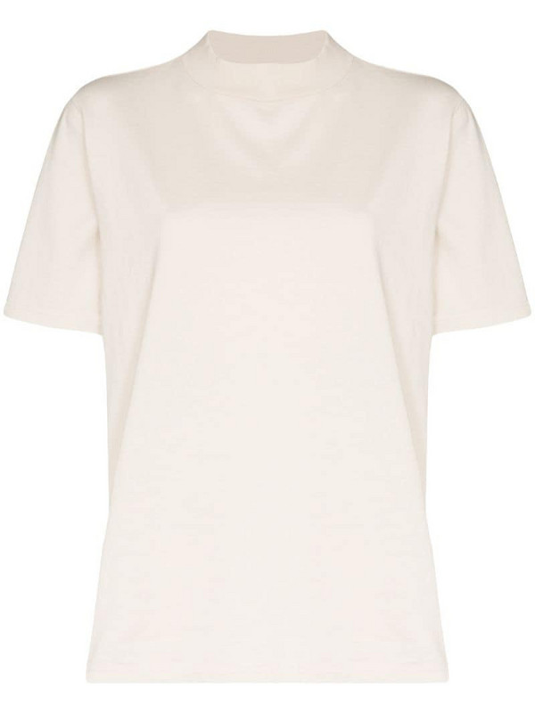 Les Tien mock neck T-shirt in white