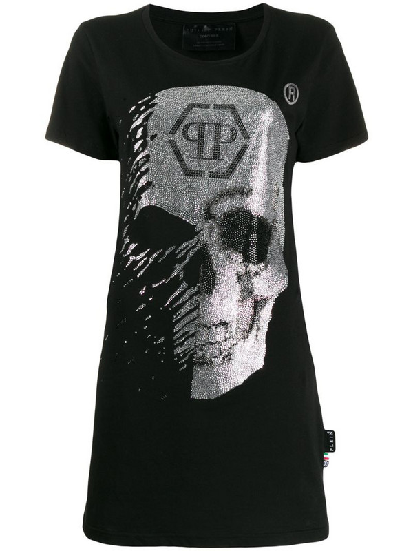 Philipp Plein Skull T-shirt dress in black