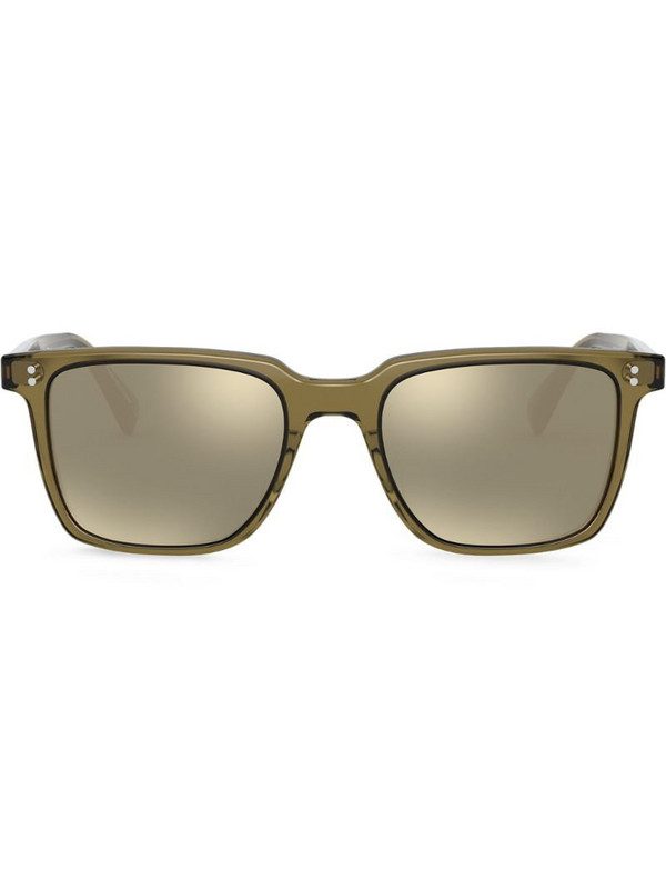 Oliver Peoples Lachman square-frame sunglasses in green