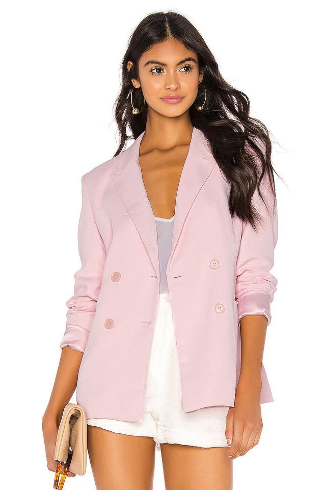 Bardot Malibu Blazer in blush