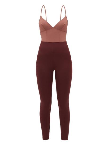 Ernest Leoty - Ilona Panelled Bodysuit - Womens - Burgundy