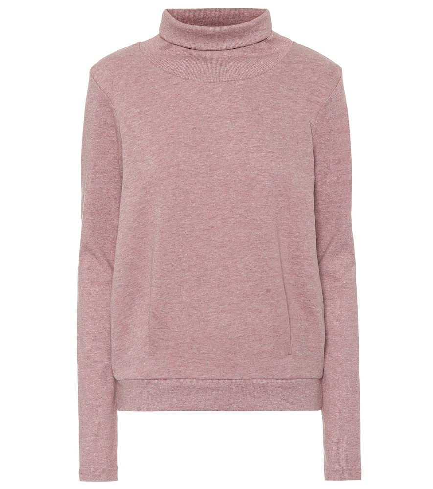 Alo Yoga Clarity cotton-blend sweater in pink