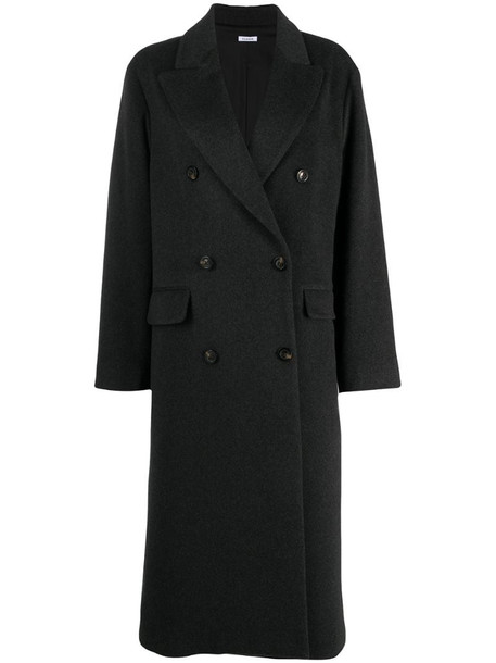 P.A.R.O.S.H. double-breasted cashmere coat in grey