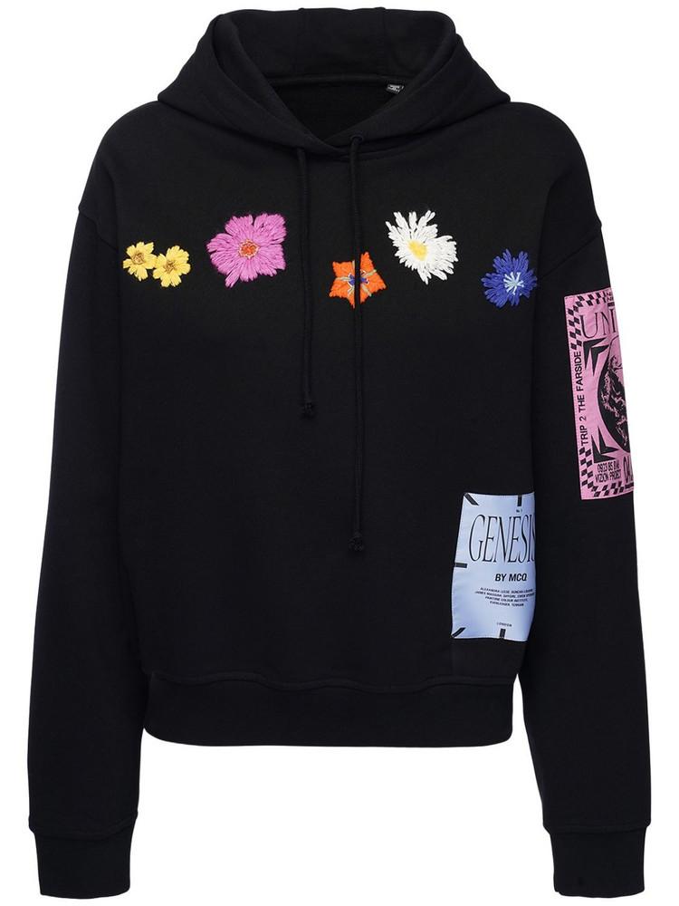 MCQ Genesis Ii Embroidered Sweatshirt Hoodie in black