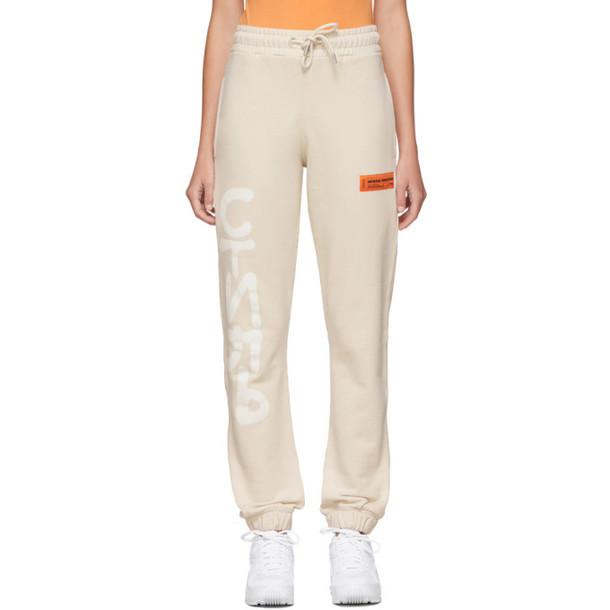 Heron Preston Beige Spray Style Lounge Pants