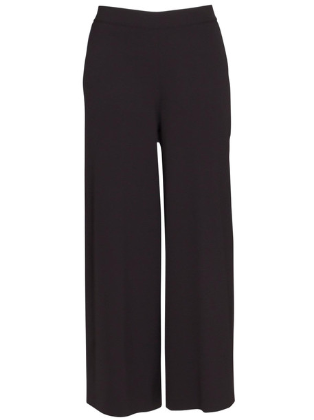 Stefano Mortari Cropped Palace Trousers In Black