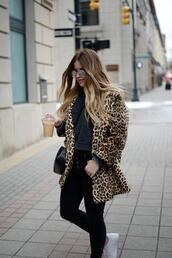 blonde bedhead,blogger,coat,sweater,jeans,bag,shoes,hat,sunglasses
