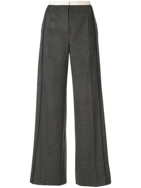 Ruban wide leg trousers in grey