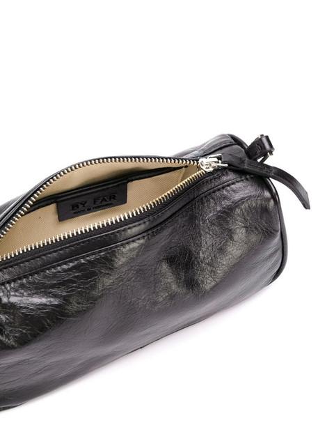 BY FAR long leather mini bag in black