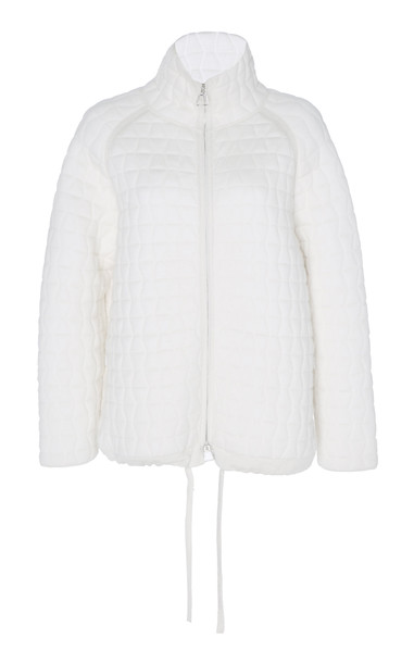 Akris Quilted Wool And Silk-Blend Jacket in white
