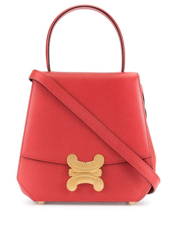 Céline Pre-Owned Macadam 2way Hand Bag in red