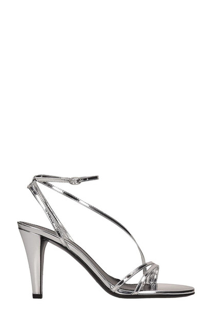 Isabel Marant Silver Leather Arora Sandals