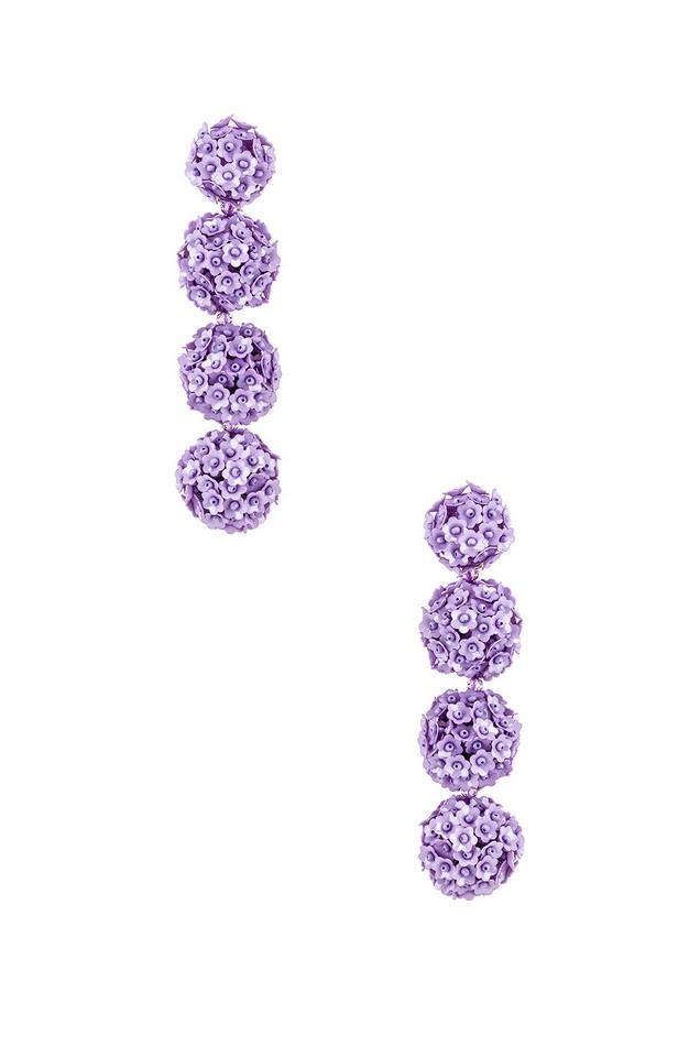 Sachin & Babi X REVOLVE Fleur Bouquet Earrings in lavender