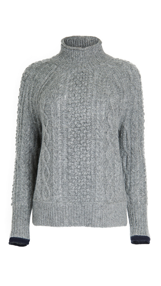 Alex Mill Kamil Cable Sweater in grey