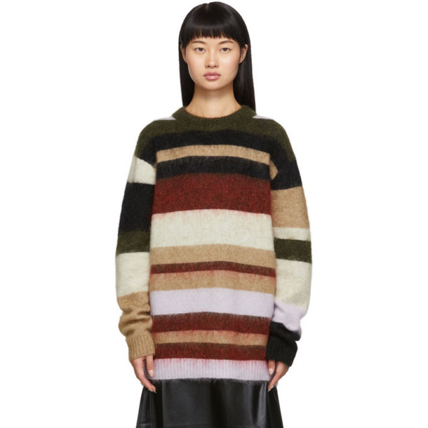 Acne Studios Green and Red Kalbah Sweater