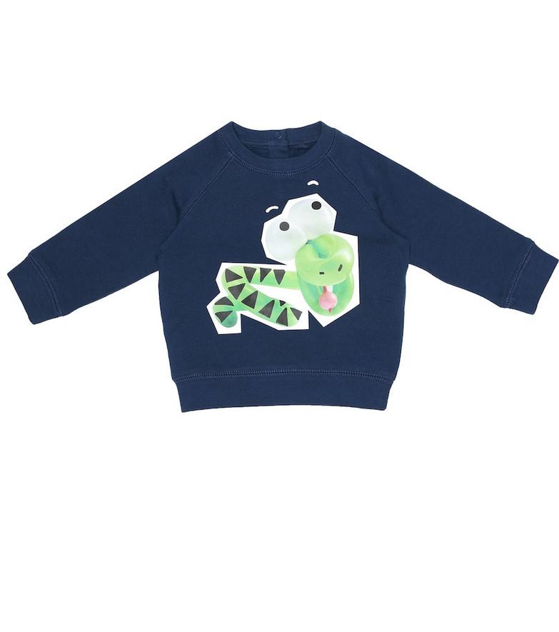 Stella McCartney Kids Baby cotton sweatshirt in blue