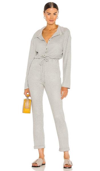 Lovers + Friends Lovers + Friends Cozy Knit Jumpsuit in Grey