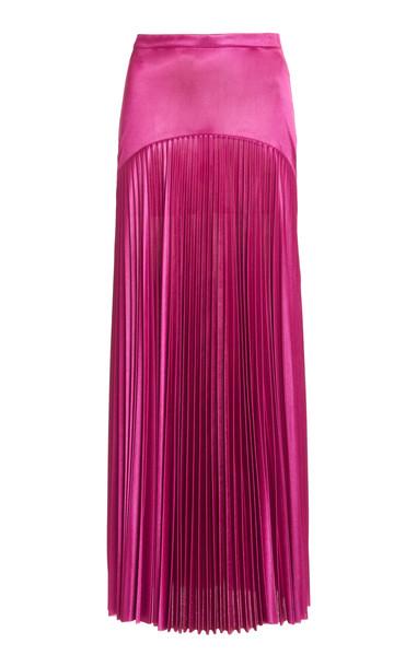Christopher Kane Pleated Jersey Midi Skirt in purple