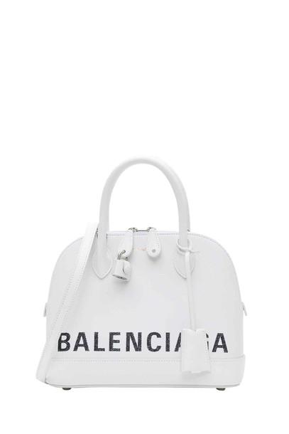 Balenciaga Ville S Handbag in bianco