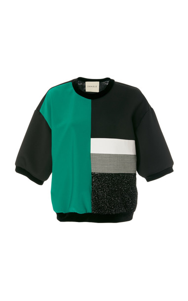 Daniele Carlotta Lurex 80'S Style Pull Over Short Sleeve Sweater in multi