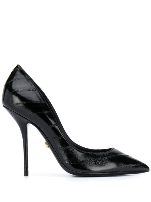 Dolce & Gabbana Cardinal leather pumps in black