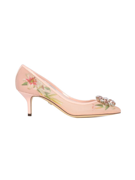 Dolce & Gabbana Decollete Heel 60 Jewel Detail On The Toe in pink