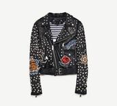 jacket,leather jacket,studded jacket,biker jacket