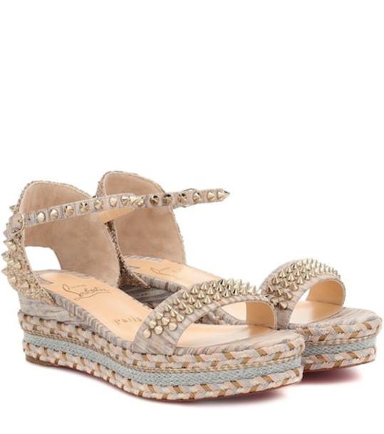 Christian Louboutin Madmonica 60 espadrille sandals in beige