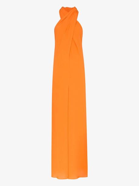 Staud Sycamore halterneck jumpsuit in orange
