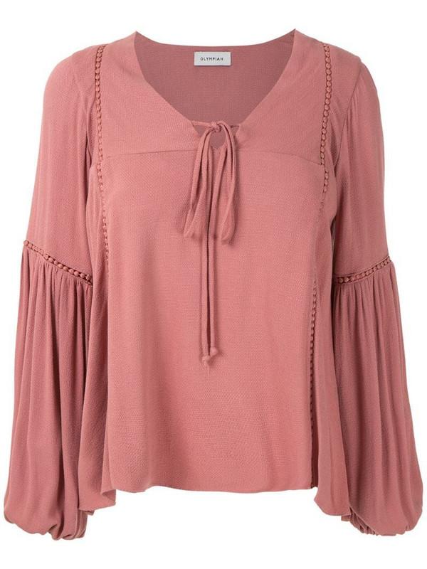Olympiah Hagia wide sleeves blouse in pink