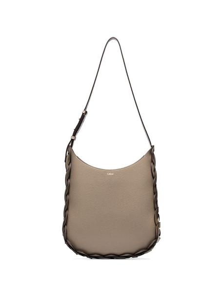 Chloé medium Darryl leather shoulder bag in neutrals
