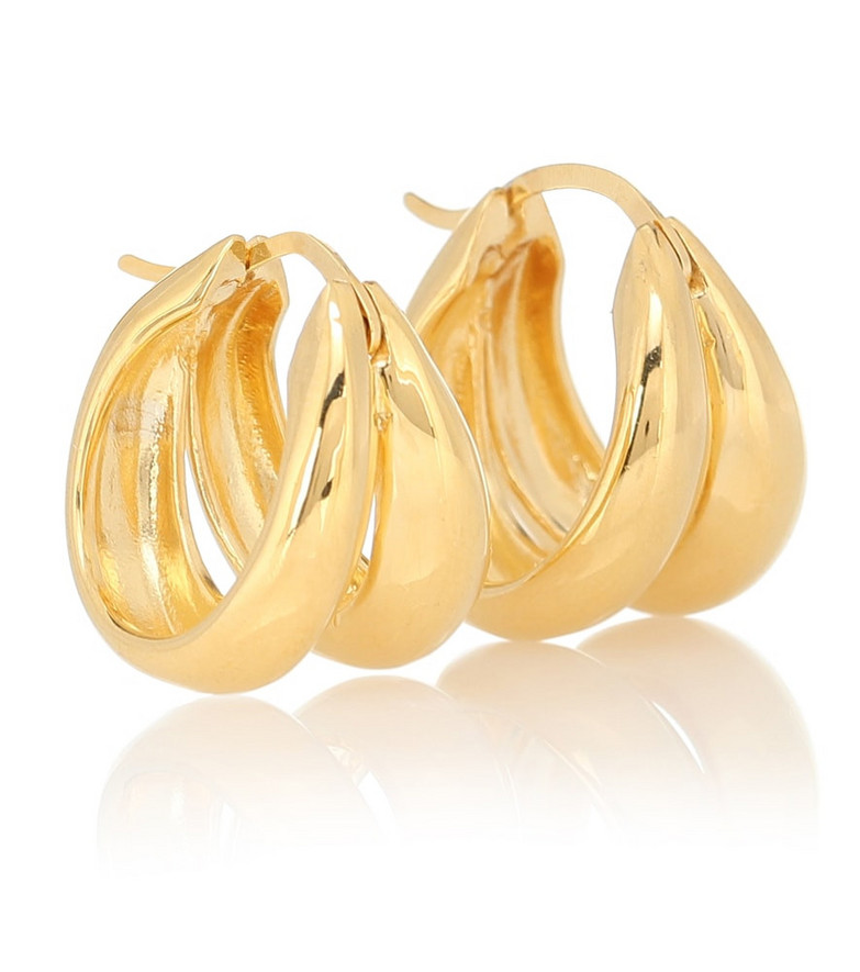Sophie Buhai 1930 18kt yellow gold-plated hoop earrings