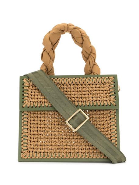 0711 camel small copacabana tote bag in green