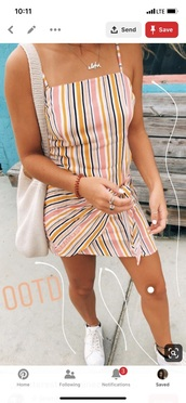 dress,colorful stripes