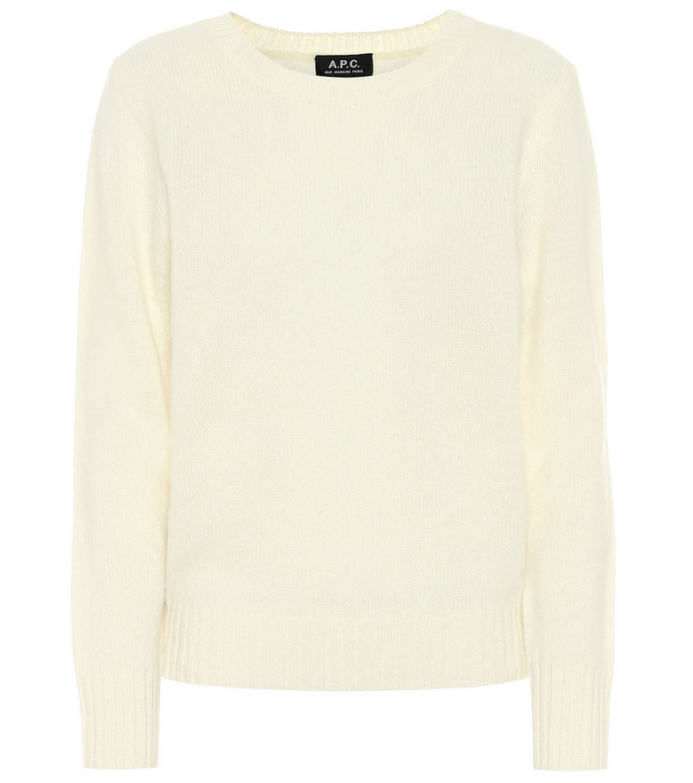 A.P.C. Léonie wool sweater in white
