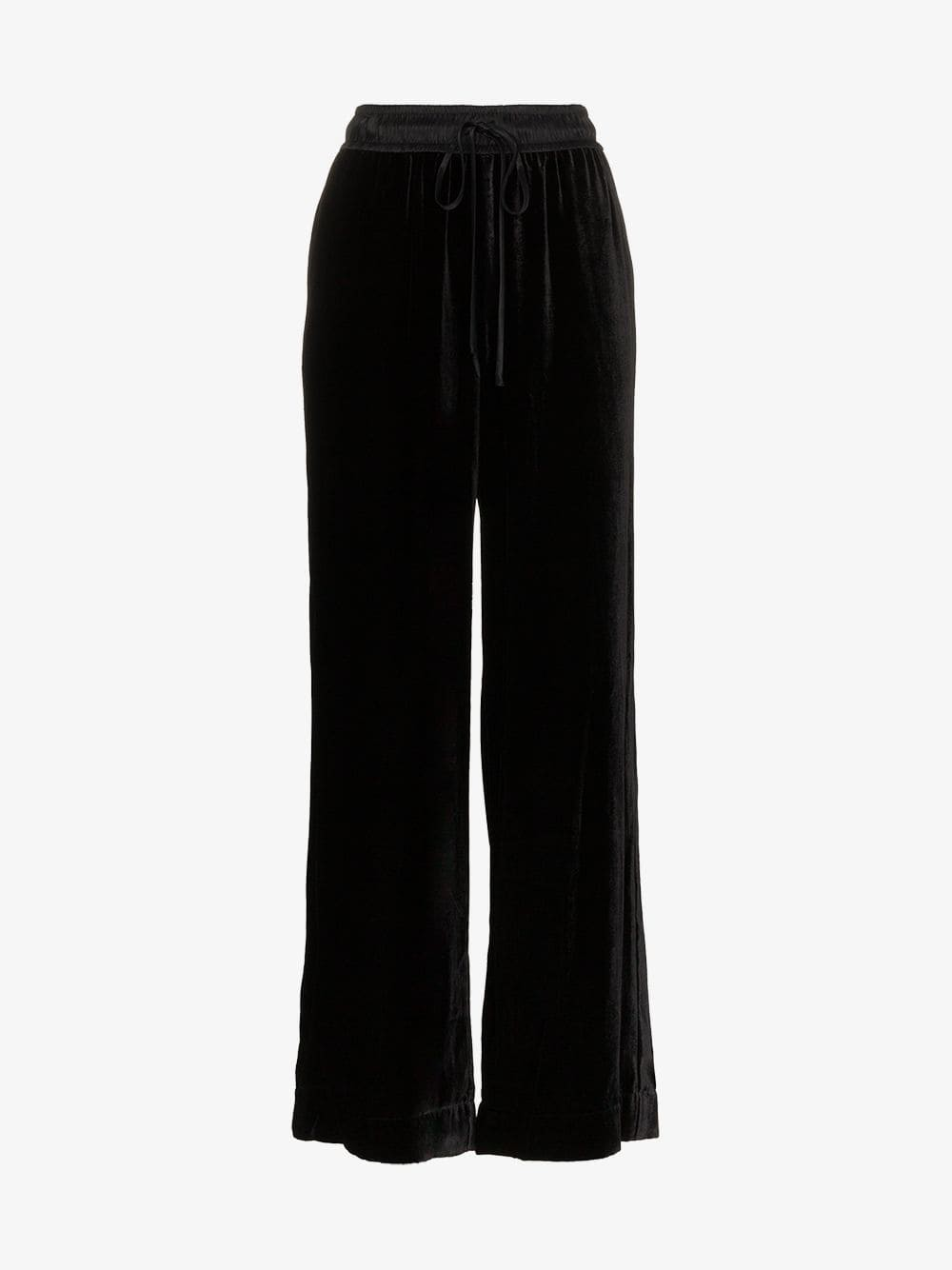 Frame Denim FRAME Drawstring waist velvet track pants in black