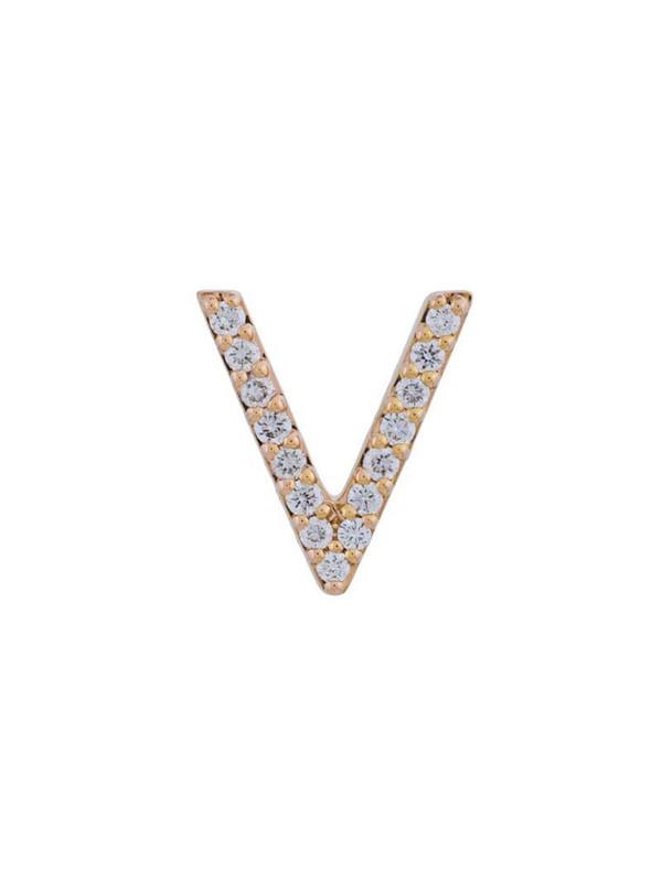 18kt gold ALINKA ID diamond stud earring in metallic