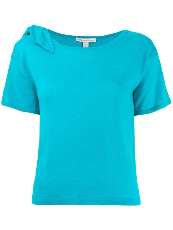 Autumn Cashmere shortsleeved sweater in blue