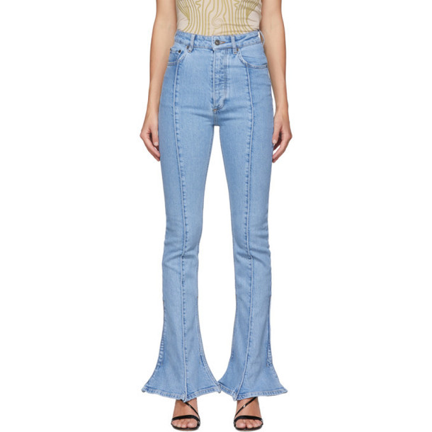 Y/Project Blue Trumpet Jeans