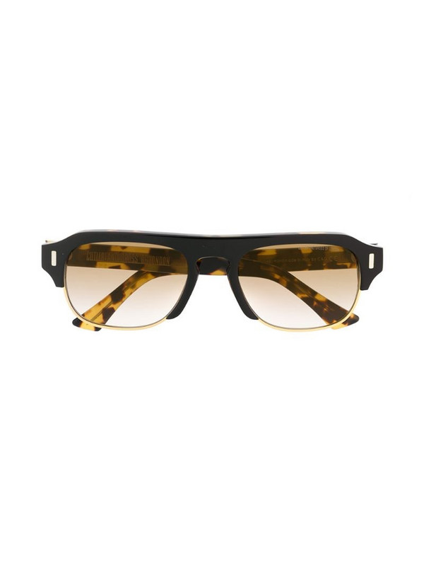Cutler & Gross 1353-04 square-frame sunglasses in yellow