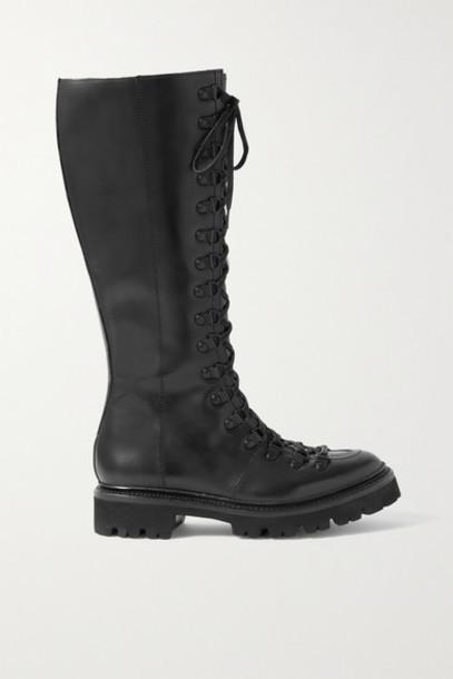 Grenson - Nanette High Leather Knee Boots - Black