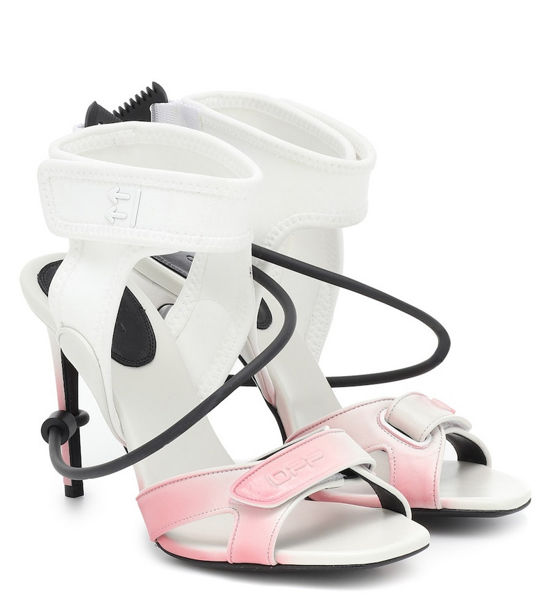 Off-White Leather sandals in white