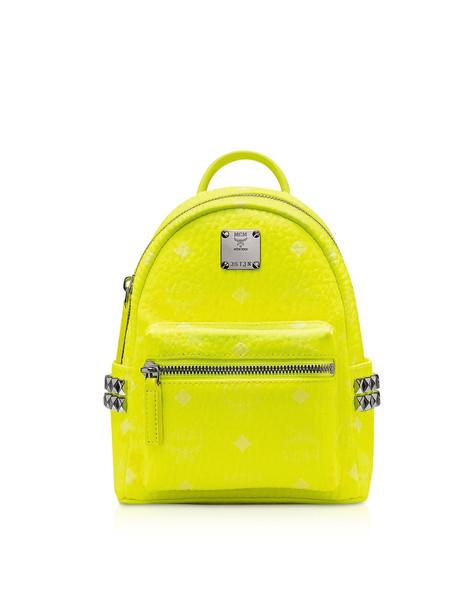 Mcm Neon Yellow Stark Backpack 20 Cm