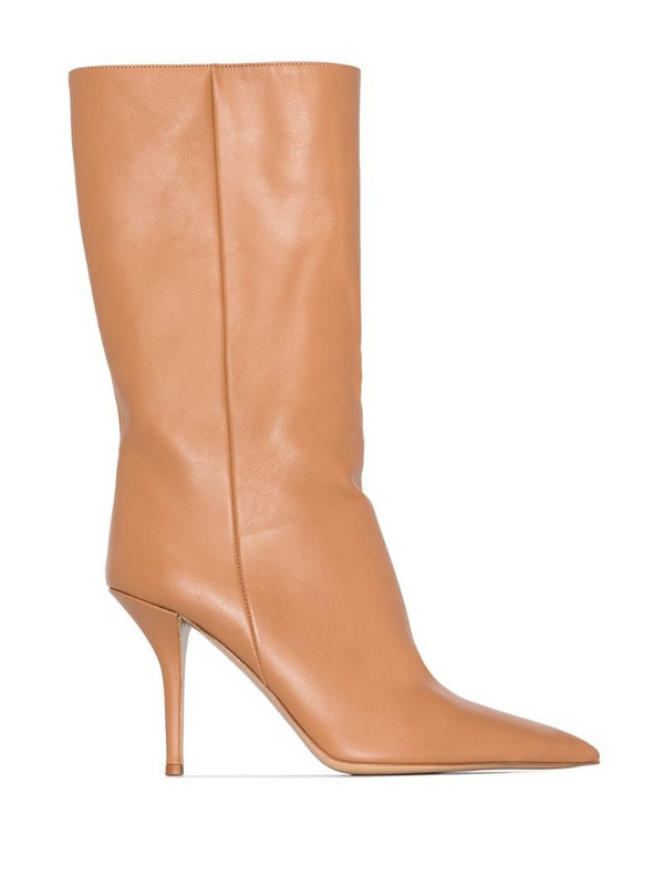 Gia Couture x Pernille Teisbaek Perni 06 85mm boots in brown